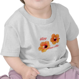 Happy Mother s Day Hibiscus Orange White bg The MU Tshirt
