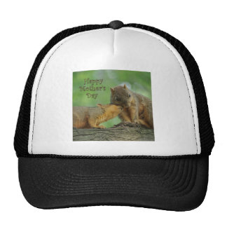 Happy Mother s Day - Mom and Baby Squirrel Trucker Hat