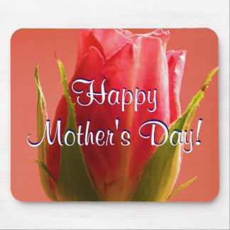 Happy Mother s Day Pink Rose I Mouse Mat