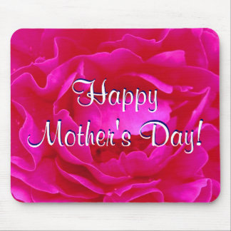 Happy Mother s Day Pink Rose Mouse Mats