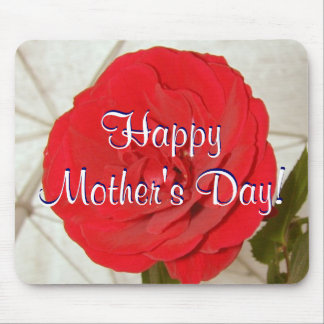 Happy Mother s Day Red Rose I Mouse Mat