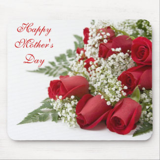 Happy Mother s Day Red Roses Mousepad