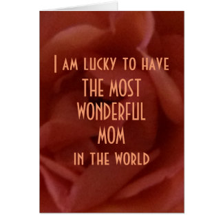 Happy Mother´s Day, Rose with Text, Greeting Card