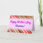 "[ Thumbnail: ""Happy Mother's Day"" + Watermelon-Inspired Stripes Card ]"