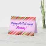 """[ Thumbnail: """"Happy Mother's Day"""" + Watermelon-Inspired Stripes Card ]"""