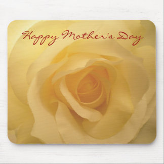 Happy Mother s Day White Rose Mousepad