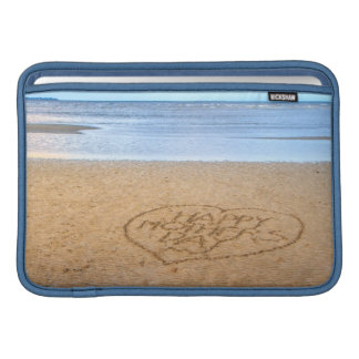 Happy Mother s Day with Love Heart in the Sand MacBook Sleeves