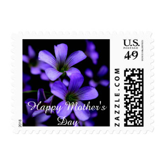 Happy Motherday (Purple Flowers) Postage