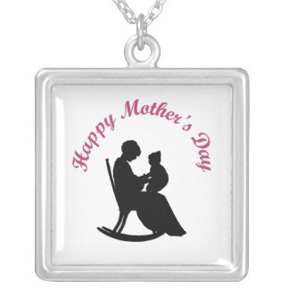 Happy Mother's Day (11) Silver Plated Necklace