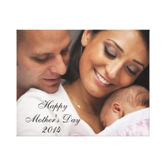 Happy Mother's Day 2014 Family Portrait Canvas Print