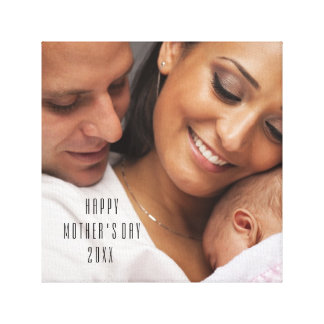 Happy Mother's Day 2015 Family Portrait Canvas Print