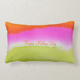 """Happy Mothers Day Abstract Cotton Pillow 13"""" x 21"""""""