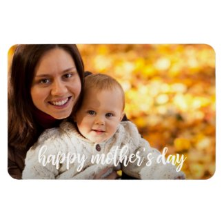Happy Mother's Day Add Your Own Photo Template Magnet