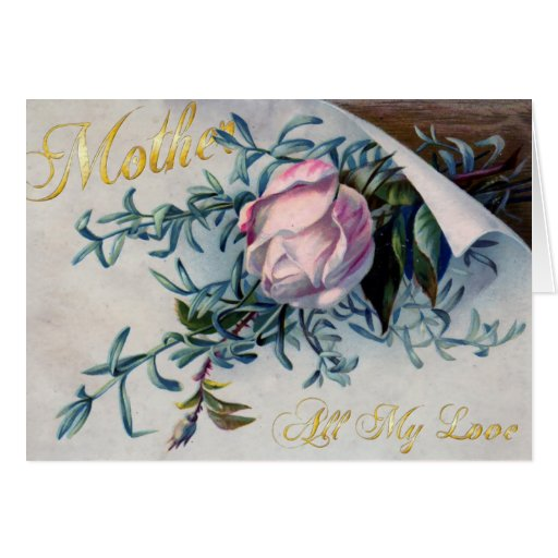 Happy Mother's Day - All My Love - 2 Greeting Cards