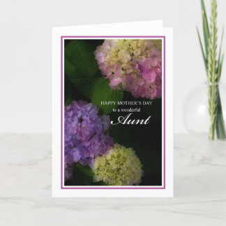 Happy Mother's Day Aunt, Painted Hydrangea Flowers Card