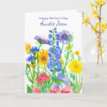 Happy Mother's Day Aunt Wildflower Bouquet Card