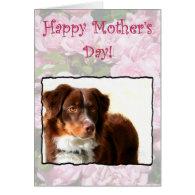 Happy Mother's Day Australian Shepherd card