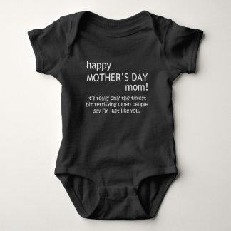 happy mother's day baby bodysuit