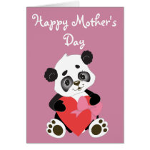 Happy Mother's Day Baby Panda Card