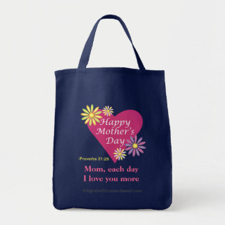 Happy Mother's Day Grocery Tote Bag