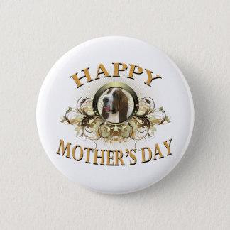 Happy Mother's Day Bassett Hound Pinback Button