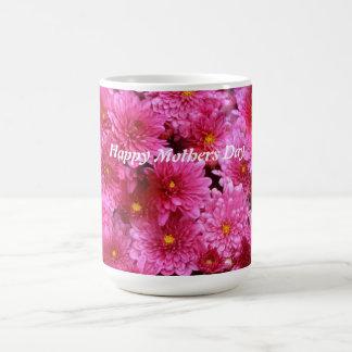 HAPPY MOTHERS DAY, BEAUTIFUL PINK FLOWER MUG