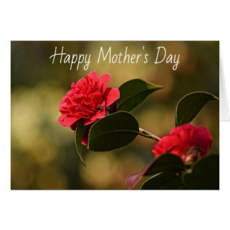 Happy Mother's Day Beautiful Red Flower Card