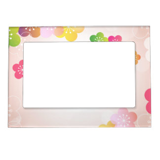 happy mothers day big spring flowers magnetic photo frame - Mothers Day Picture Frame