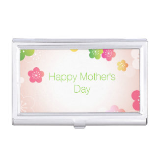 Happy Mother's Day Big Spring Flowers Business Card Holders
