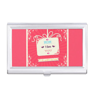 Happy Mother's Day Birds and Flowers Business Card Holders