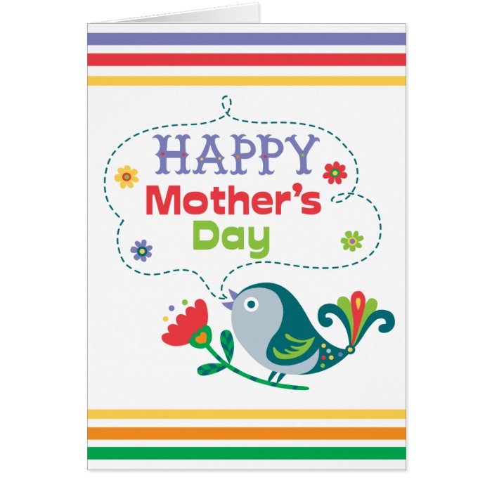 Happy Mother's Day - birdy Card