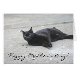 Happy Mother's Day Black  Cat greeting card