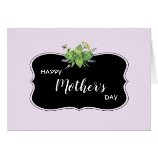 Happy Mother's Day Black Frame Lavender Greeting