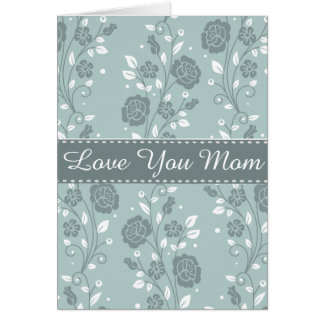 Happy Mother's Day Blue Floral Design