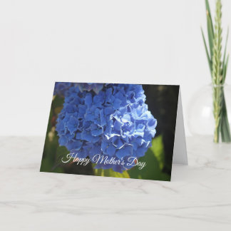 Happy Mother's Day Blue Hibiscus Card