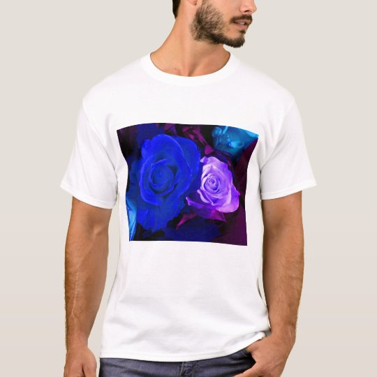 Happy Mother's Day Blue Purple Roses T-Shirt