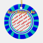Happy Mother's Day - Blue Retro Photo Frame Ornament