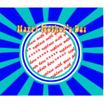 Happy Mother's Day - Blue Retro Photo Frame Acrylic Cut Out