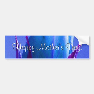 Happy Mother's Day Blue Rose Car Bumper Sticker