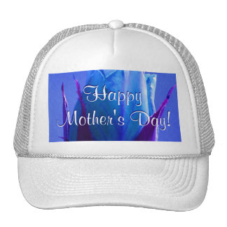 Happy Mother's Day Blue Rose Trucker Hat