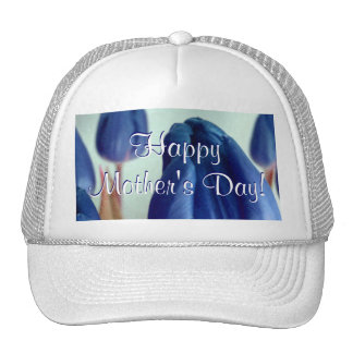 Happy Mother's Day Blue Tulips Trucker Hat