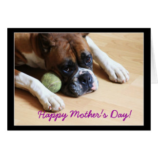 Happy Mother's Day Boxer Dog Greeting Card