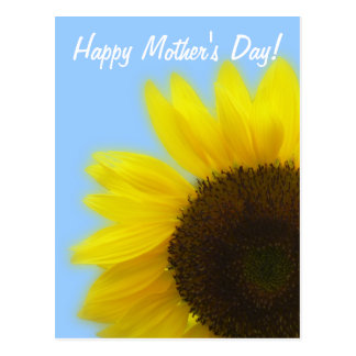 Happy Mother's day - Bright and cheerful sunflower Postcard