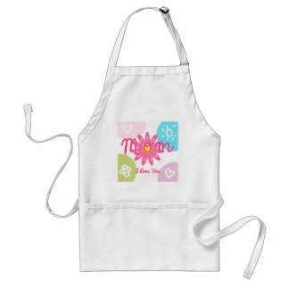 Happy Mother's day  Bright Colorful design Adult Apron