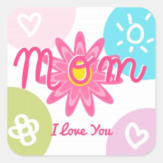 Happy Mother's day  Bright Colorful design Square Sticker