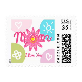 Happy Mother's day  Bright Colorful design Stamp