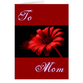 Happy Mother's Day Bright Red Daisy I Greeting Card