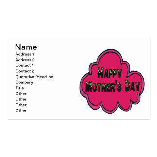 Happy Mothers Day Double-Sided Standard Business Cards (Pack Of 100)