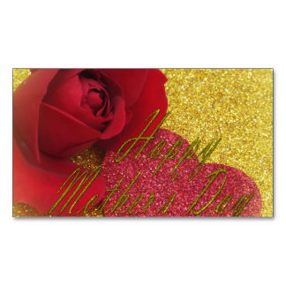 happy mothers day business card magnet