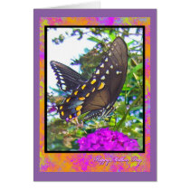 Happy Mothers Day Butterfly Greeting Card